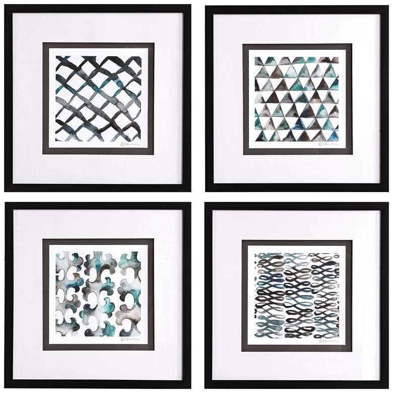 "La Mer 22"" Square 4-Piece Framed Printed Wall Art Set"