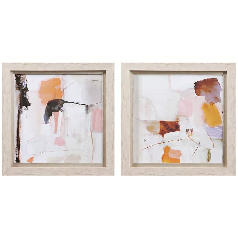 "Uttermost Ravel 19 3/4"" Square 2-Piece Framed Wall Art Set"