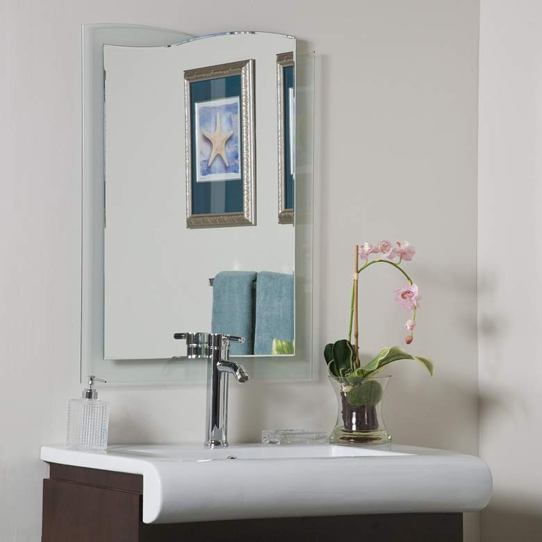 "Tula 23 1/2"" x 31 1/2"" Novelty Frameless Bathroom Mirror"