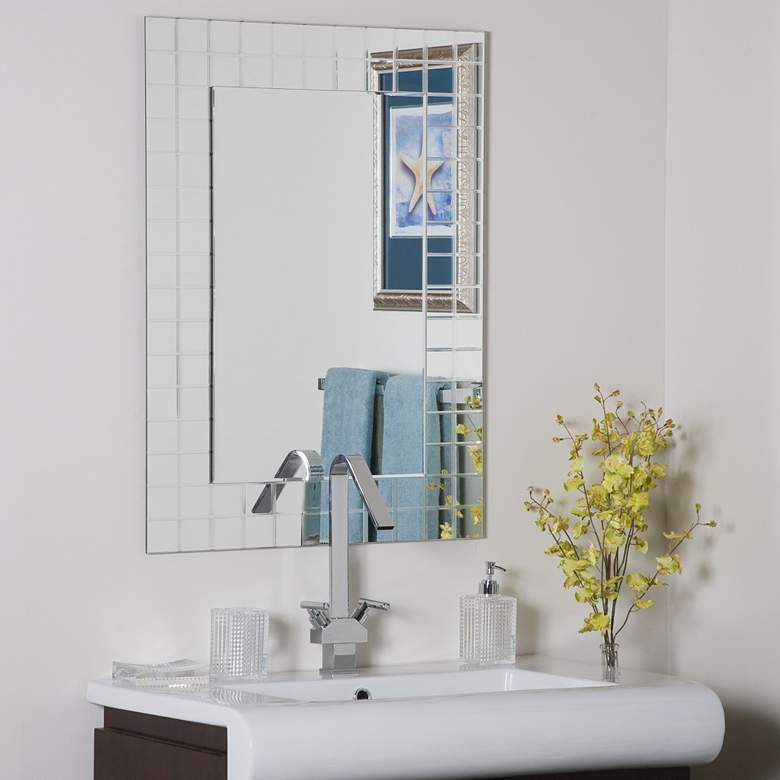 "Mischa 23 1/2"" x 31 1/2"" Rectangular Frameless Wall Mirror"