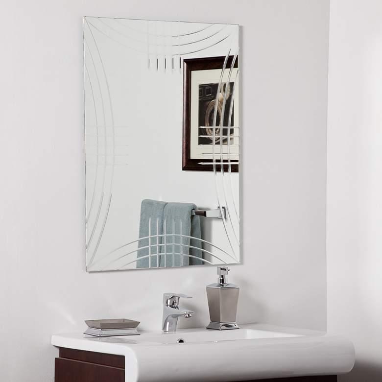 "Caydon 23 1/2"" x 31 1/2"" Frameless Bathroom Wall Mirror"
