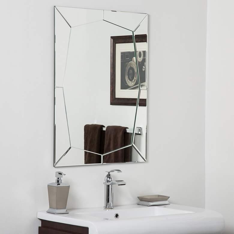 """Carstadt 23 1/2"""" x 31 1/2"""" Frameless Bathroom Wall Mirror"""