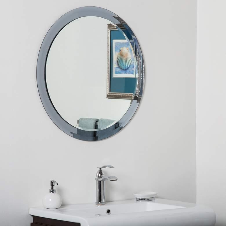 Charles Gray 27 1 2 Round Frameless Bathroom Wall Mirror