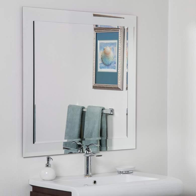 "St. Petersburg 35"" Square Frameless Bathroom Wall Mirror"