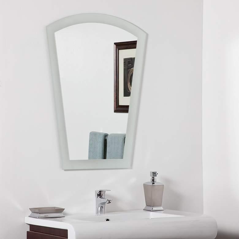 "Gabrielle Sandblasted 23 1/2"" x 31 1/2"" Arch Top Wall Mirror"