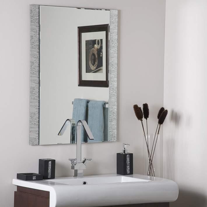 Molten 23 1 2 X 31 1 2 Rectangular Frameless Wall Mirror 73k88 Lamps Plus