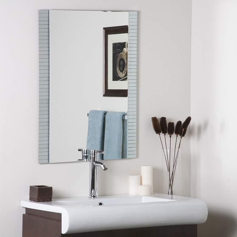 "Sam Horizontal Lines 23 1/2"" x 31 1/2"" Frameless Wall Mirror"