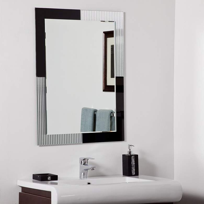 "Jasmine 23 1/2"" x 31 1/2"" Frameless Bathroom Wall Mirror"