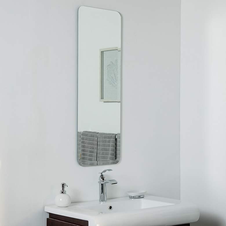 "Shelly Long 13 3/4"" x 39 1/2"" Frameless Wall Mirror"