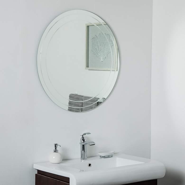 Turner 30 Round Frameless Wall Mirror