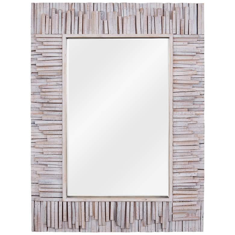 "Varaluz Casa Nellie Coastal Wood 30"" x 40"" Wall Mirror"