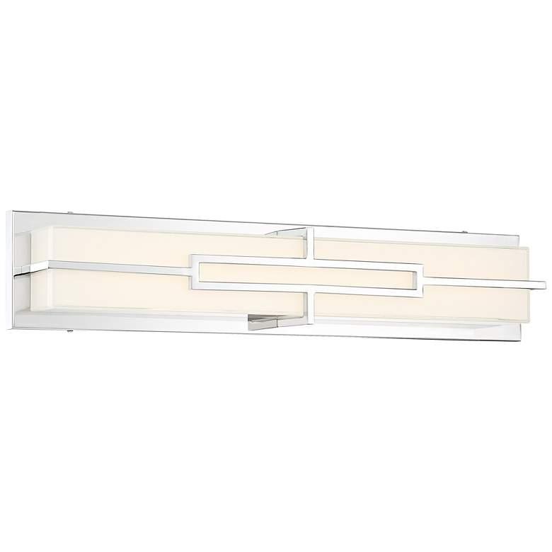 "Possini Euro Melfort  26""W Modern Chrome LED Bath Light"