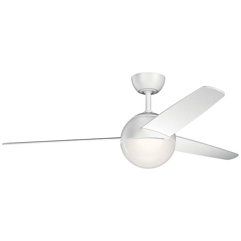 "56"" Kichler Bisc Matte White Modern LED Ceiling Fan"