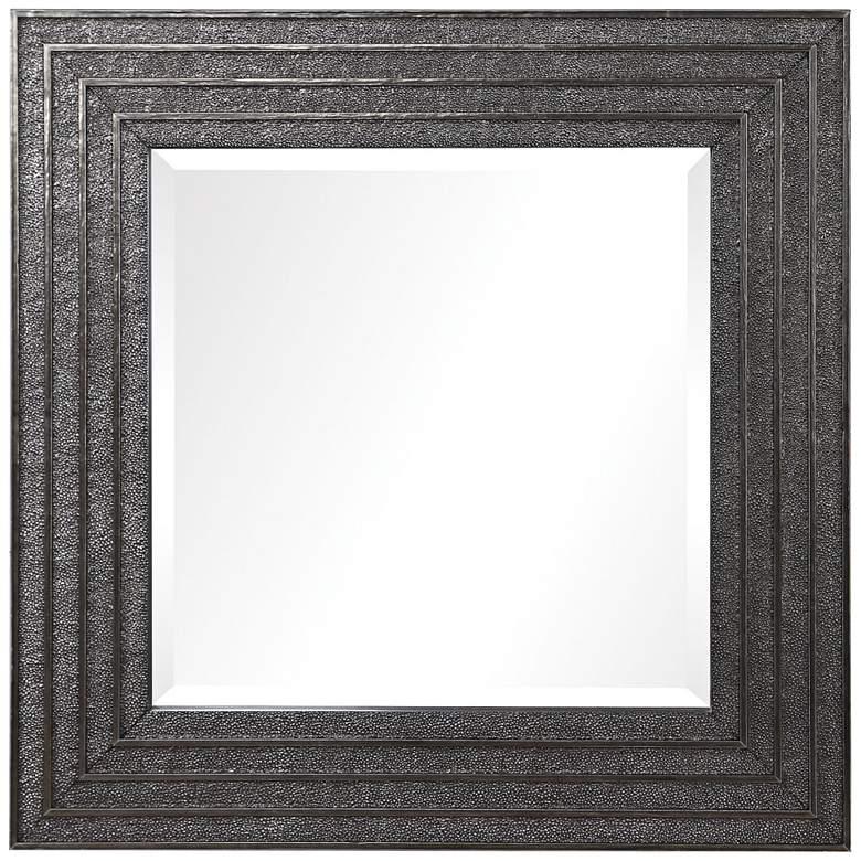 "Uttermost Sondra Aged Silver 36"" Square Wall Mirror"