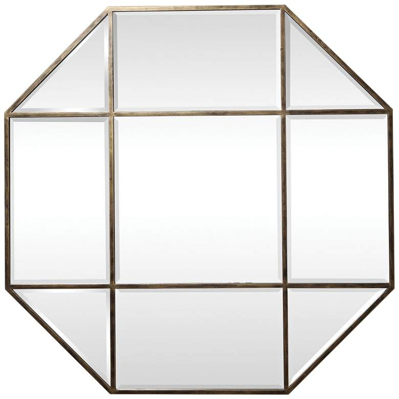 "Uttermost Daniella Brass 48"" x 48"" Octagon Wall Mirror"