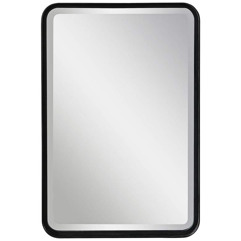 "Uttermost Croften Black 20 1/4"" x 30 1/4"" Vanity Wall Mirror"