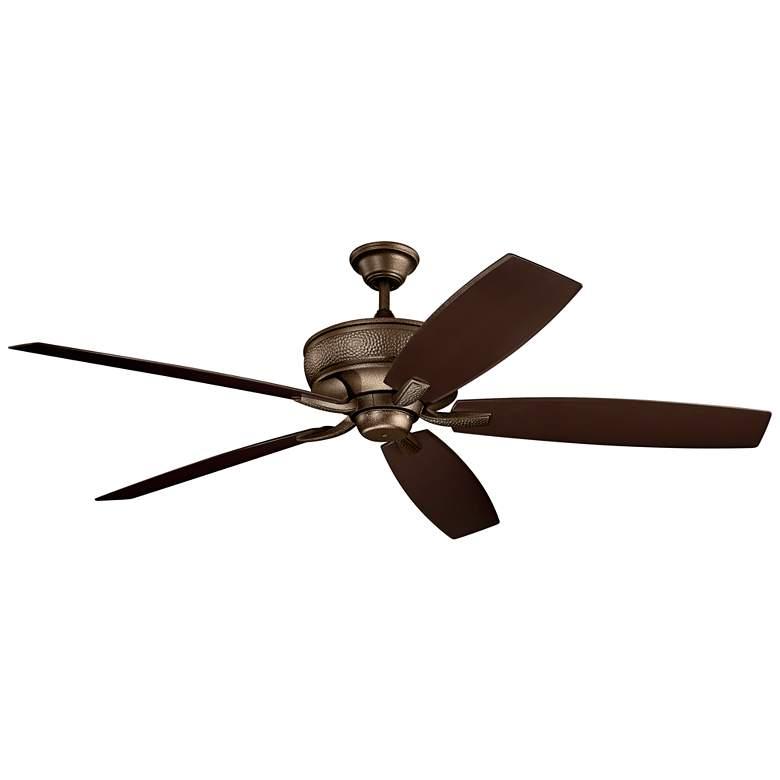 "70"" Kichler Monarch Patio Weathered Copper Ceiling Fan"