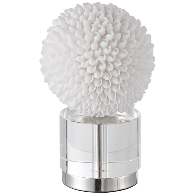 "Uttermost Cascara 10"" High White Seashell Sphere Sculpture"
