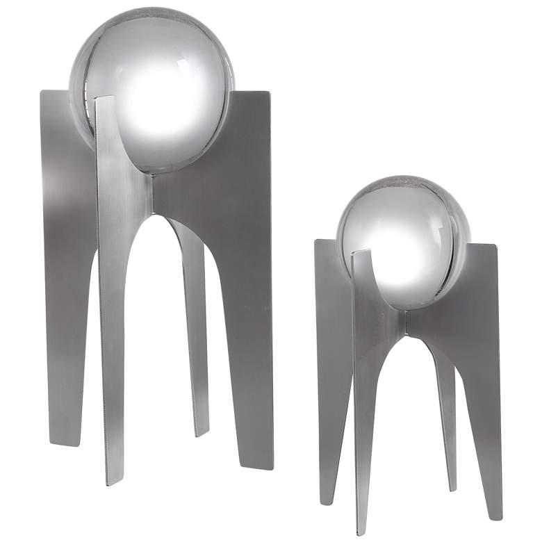 "Uttermost Ellianna 15 3/4"" High Crystal Sculptures Set of 2"