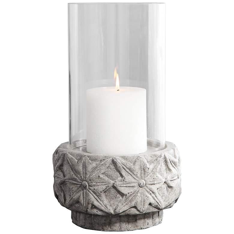 Uttermost Capistrano Gray Concrete Pillar Candle Holder