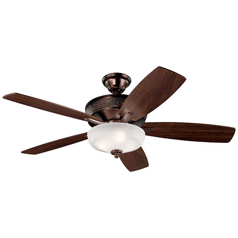 """52"""" Kichler Monarch II Oil-Brushed Bronze LED Ceiling Fan"""