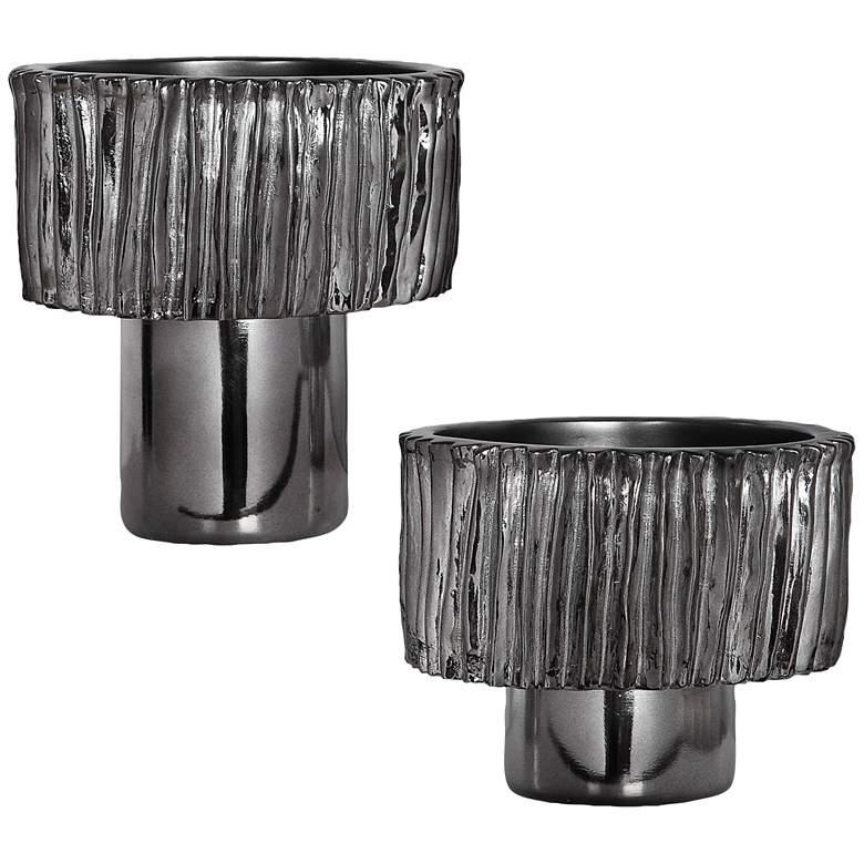 Uttermost Zosia Black Nickel Decorative Bowls Set of 2