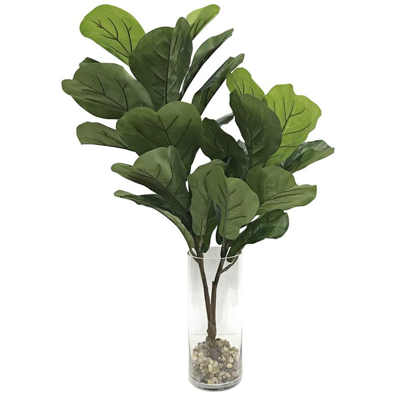 "Urbana Green Fiddle Leaf Fig 36"" High Faux Branches in Vase"