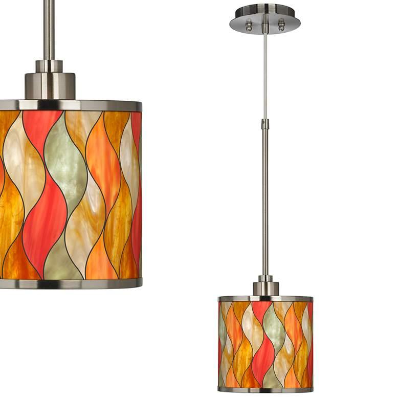 Flame Mosaic Giclee Glow Mini Pendant Light