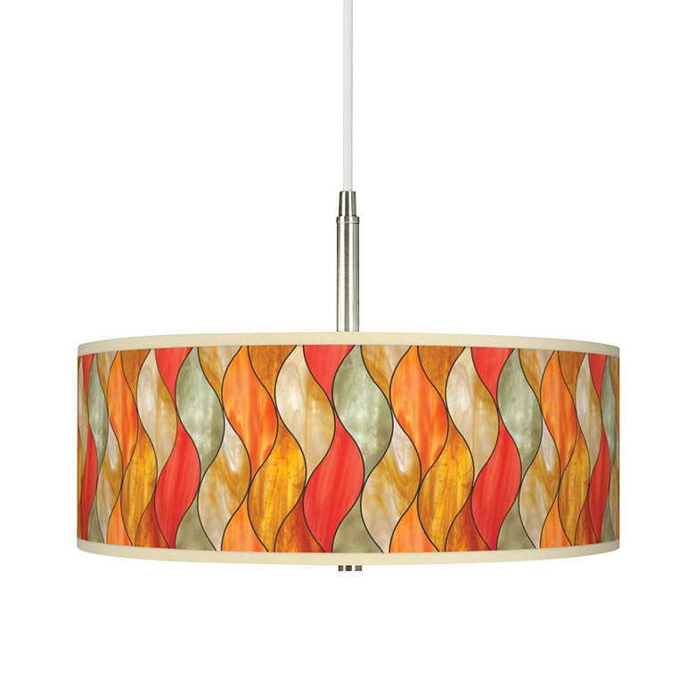 Flame Mosaic Giclee Pendant Chandelier