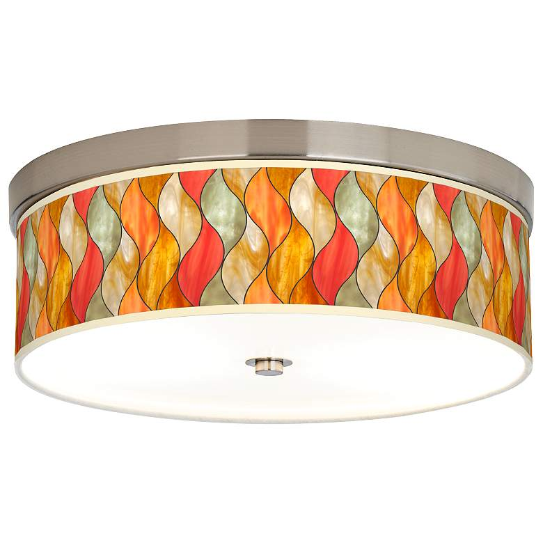 Flame Mosaic Giclee Energy Efficient Ceiling Light