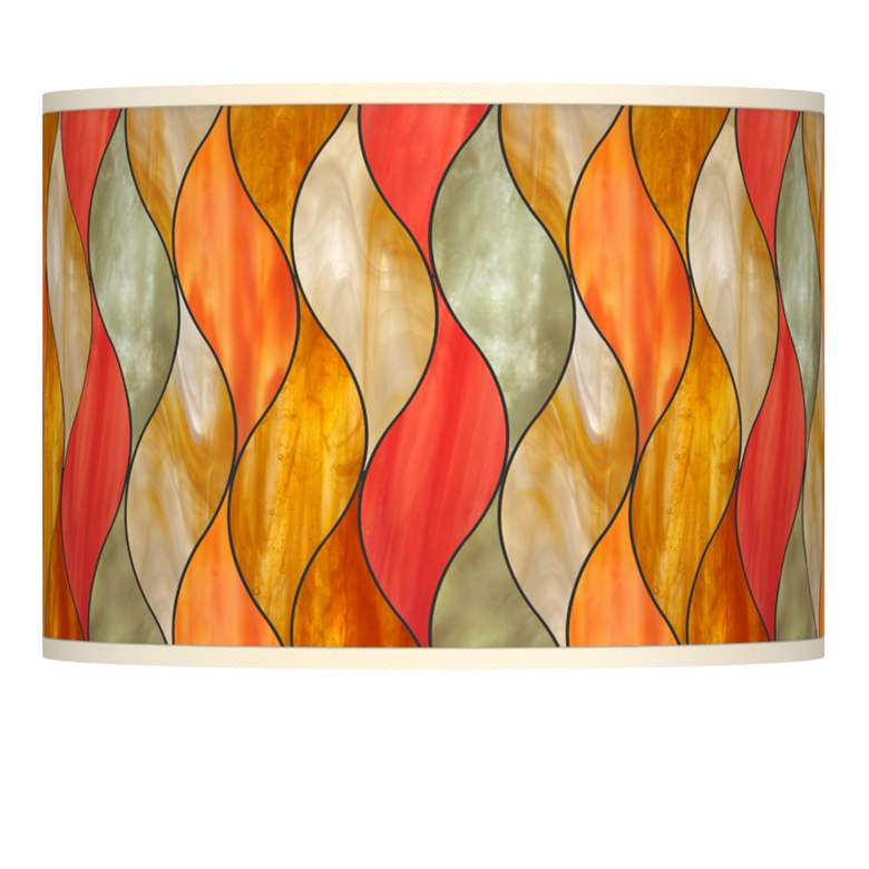 Flame Mosaic Giclee Lamp Shade 13.5x13.5x10 (Spider)