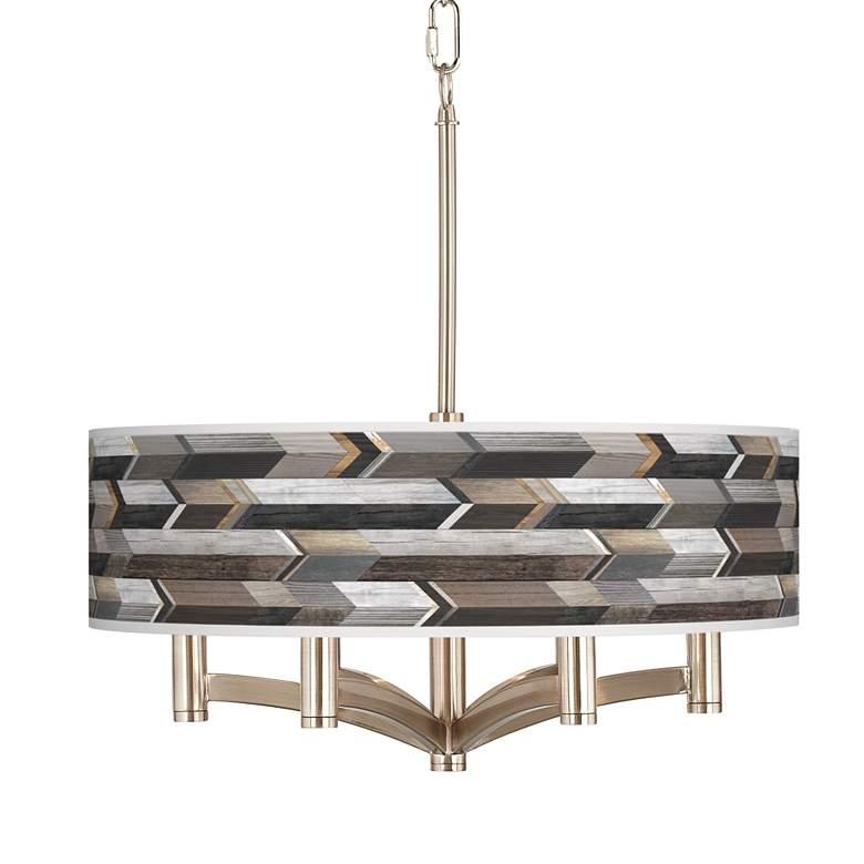 Woodwork Arrows Ava 6-Light Nickel Pendant Chandelier