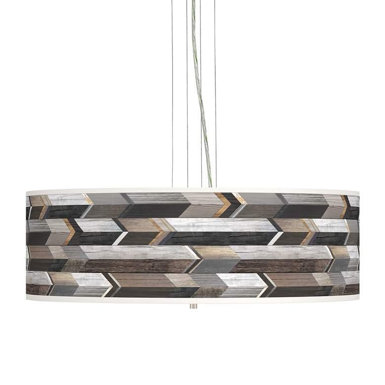 """Woodwork Arrows Giclee 24"""" Wide 4-Light Pendant Chandelier"""