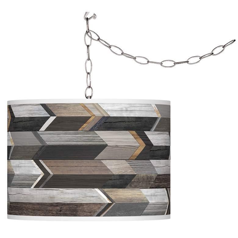 Woodwork Arrows Giclee Glow Plug-In Swag Pendant