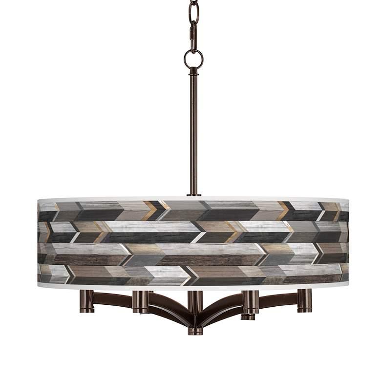 Woodwork Arrows Ava 6-Light Bronze Pendant Chandelier