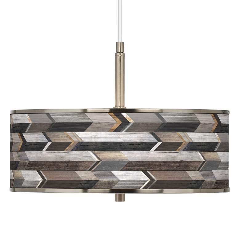 """Woodwork Arrows Giclee Glow 16"""" Wide Pendant Light"""