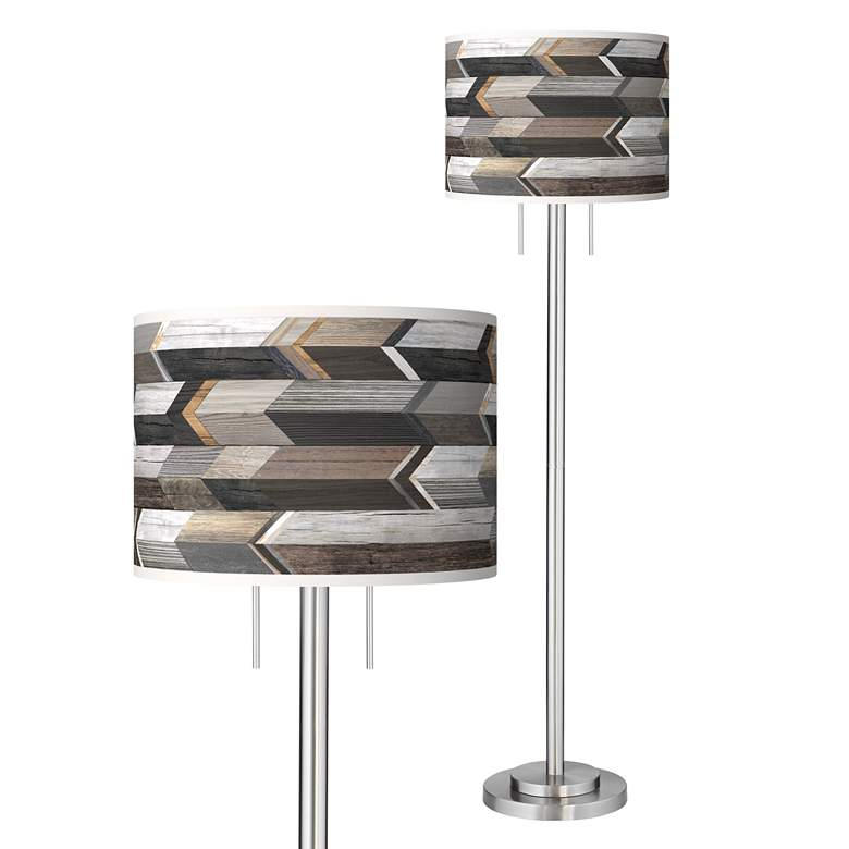 Woodwork Arrows Giclee Brushed Nickel Garth Floor Lamp