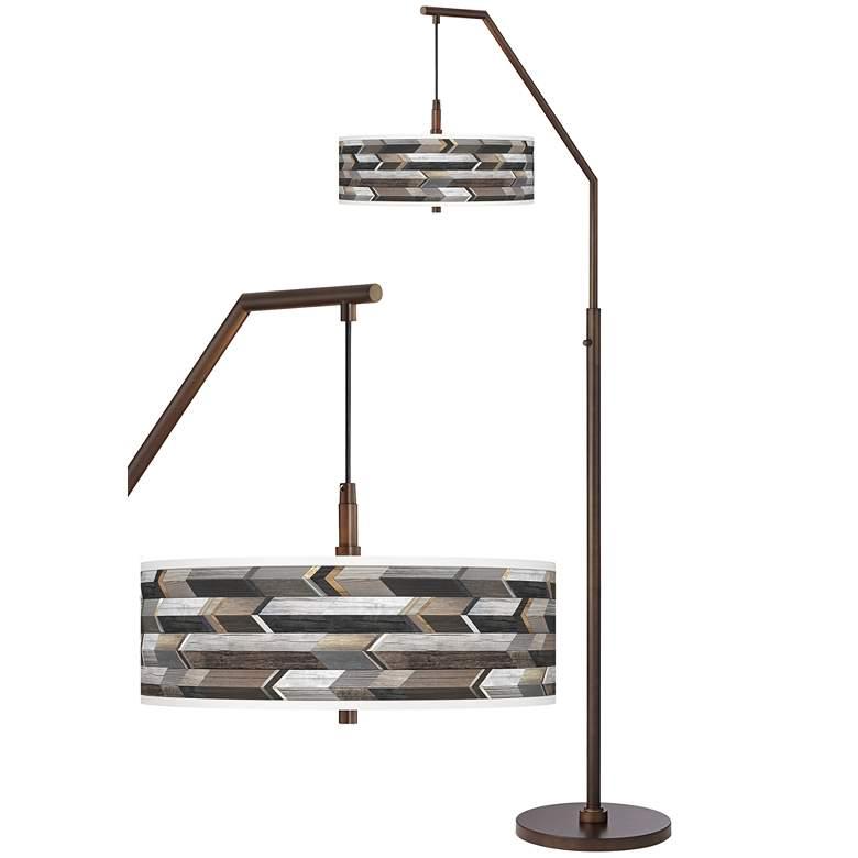 Woodwork Arrows Bronze Downbridge Arc Floor Lamp