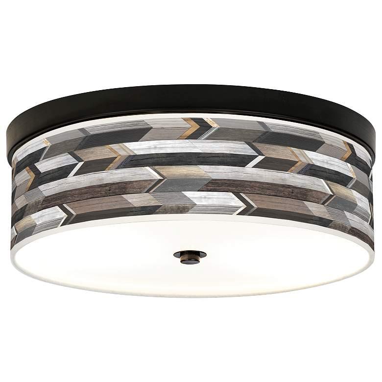 Woodwork Arrows Giclee Energy Efficient Bronze Ceiling Light