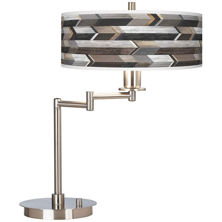 Woodwork Arrows Giclee Swing Arm LED Desk Lamp