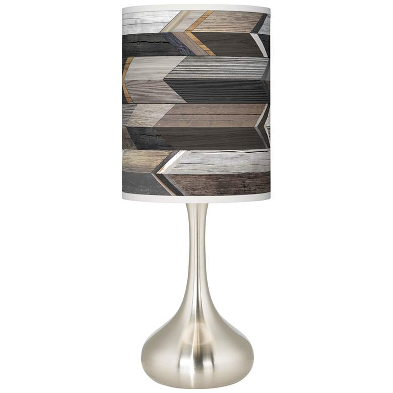 Woodwork Arrows Giclee Droplet Table Lamp