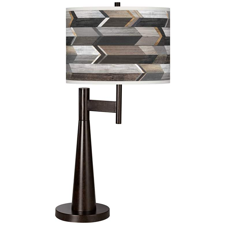 Woodwork Arrows Giclee Novo Table Lamp
