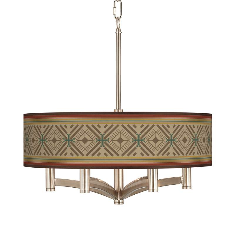 Desert Diamonds Ava 6-Light Nickel Pendant Chandelier