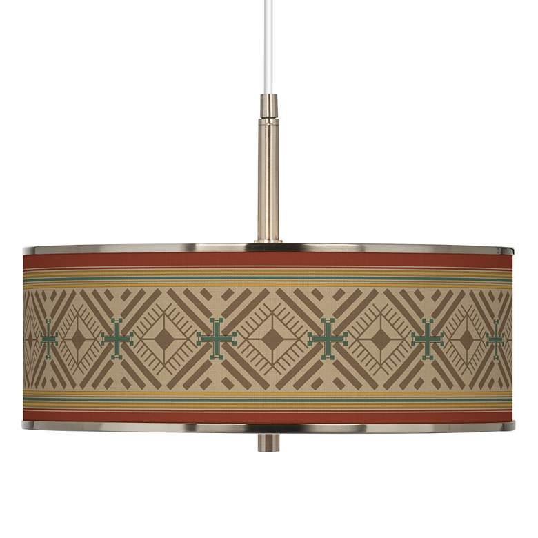 "Desert Diamonds Giclee Glow 16"" Wide Pendant Light"
