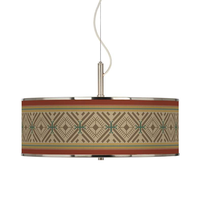 "Desert Diamonds Giclee Glow 20"" Wide Pendant Light"
