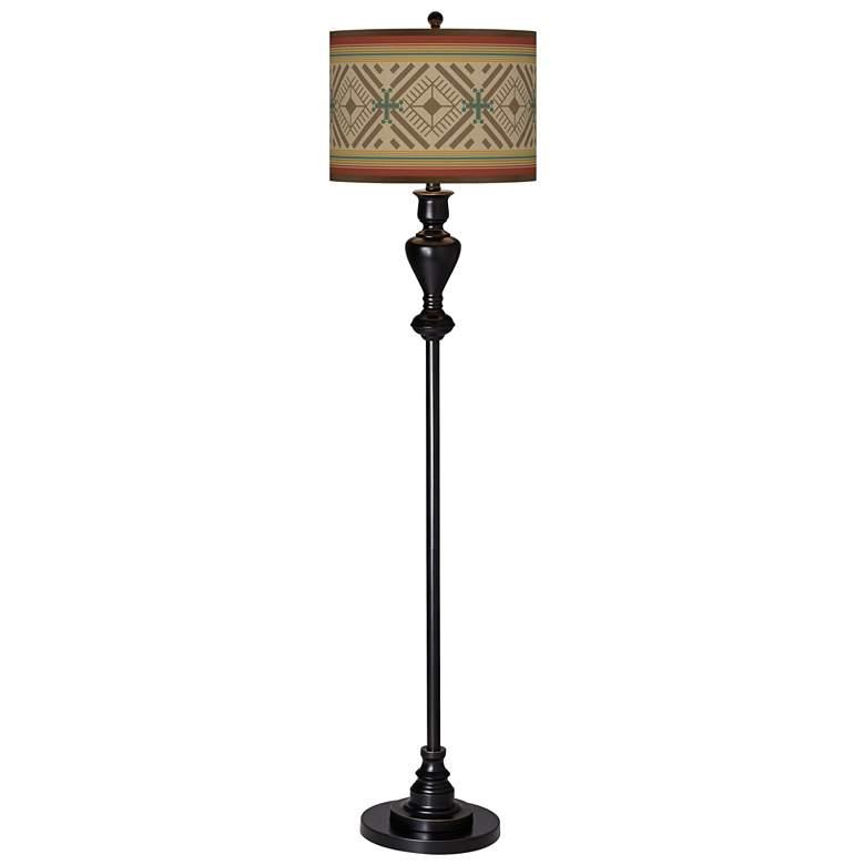 Desert Diamonds Giclee Glow Black Bronze Floor Lamp