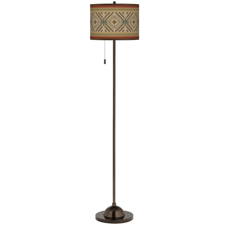 Desert Diamonds Giclee Glow Bronze Club Floor Lamp