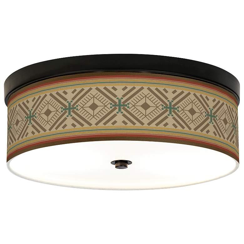 Desert Diamonds Giclee Energy Efficient Bronze Ceiling Light