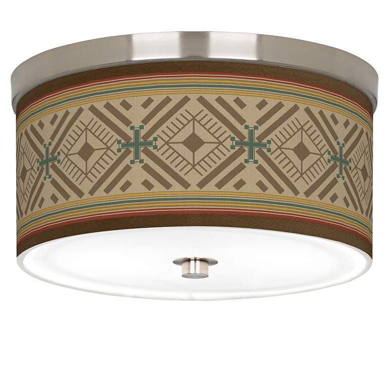 """Desert Diamonds Giclee Nickel 10 1/4"""" Wide Ceiling Light"""