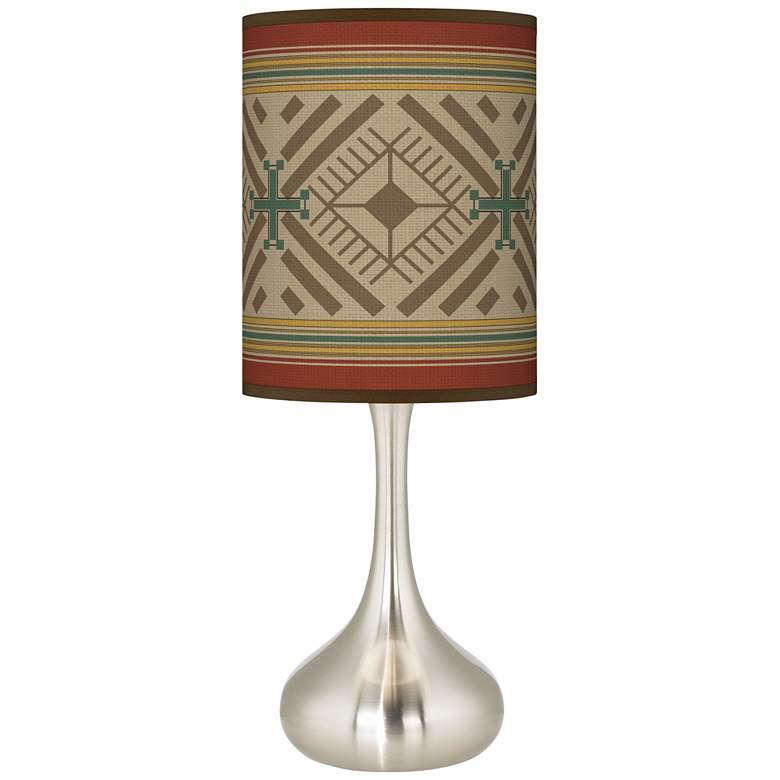Desert Diamonds Giclee Droplet Table Lamp